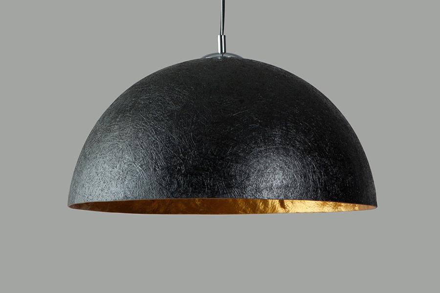 Slaapkamer Lamp Zwart : Hanglamp mezzo tondo lichts cm zwart goud