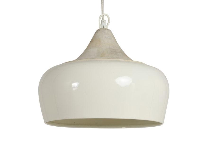 Hanglamp Slaapkamer Wit : Hanglamp damaris ivoor met hout